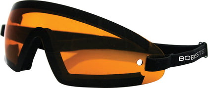 BOBSTER WRAP AROUND SUNGLASSES BLACK W/AMBER LENS BW201A