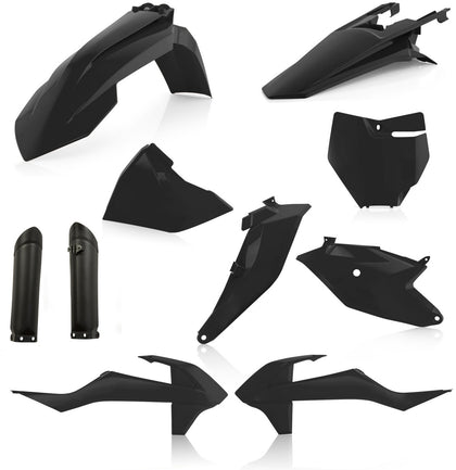 ACERBIS FULL PLASTIC KIT BLACK 2686020001