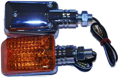 K&S UNIVERSAL SIGNAL LIGHTS CHROME W/AMBER LENS 25-7502-atv motorcycle utv parts accessories gear helmets jackets gloves pantsAll Terrain Depot