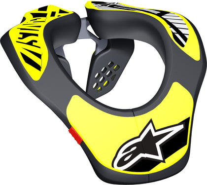 ALPINESTARS YOUTH NECK SUPPORT BLACK/YELLOW 6540118-155