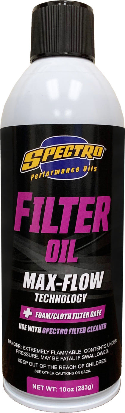 SPECTRO AIR FILTER OIL 10 OZ H.FILTER
