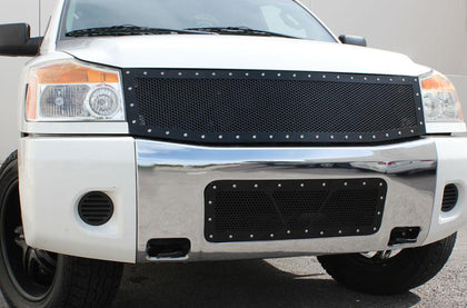 2 Piece Steel Grille for Nissan Titan 2008-2014 & 2005-2007 Armada