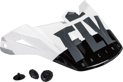 FLY RACING KINETIC THRIVE HELMET VISOR WHITE/BLACK/GREY 73-88181
