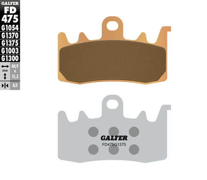 GALFER BRAKE PADS SINTERED CERAMIC FD475G1375 FD475G1375