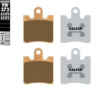 GALFER BRAKE PADS SINTERED CERAMIC FD372G1375 FD372G1375