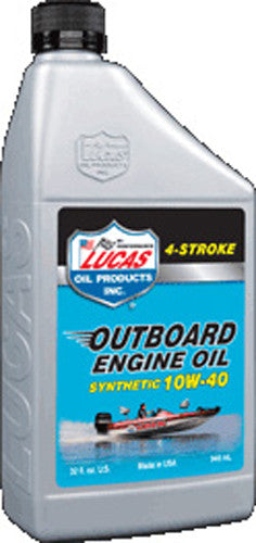LUCAS OUTBOARD ENGINE OIL SYNTHETIC 10W-40 1QT 10662