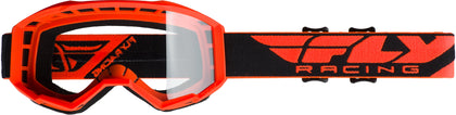 FLY RACING FOCUS GOGGLE ORANGE W/CLEAR LENS FLA-005