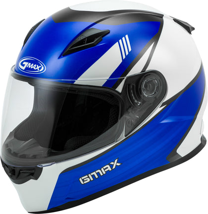 GMAX YOUTH GM-49Y FULL-FACE DEFLECT HELMET WHITE/BLUE YM G1493511