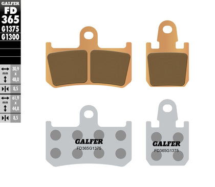 GALFER BRAKE PADS SINTERED CERAMIC FD365G1375 FD365G1375