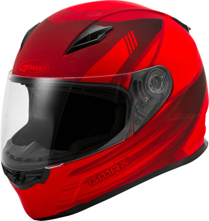GMAX FF-49 FULL-FACE DEFLECT HELMET MATTE RED/BLACK 3X G1494039