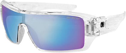 BOBSTER PARAGON SUNGLASSES CLEAR W/BLUE MIRROR LENS EPAR002