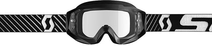 HUSTLE GOGGLE X BLACK/WHITE W/CLEAR WORKS