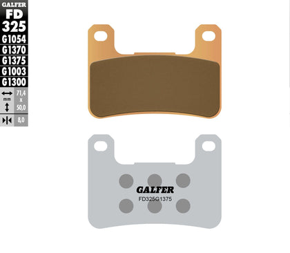 GALFER BRAKE PADS SINTERED CERAMIC FD325G1375 FD325G1375