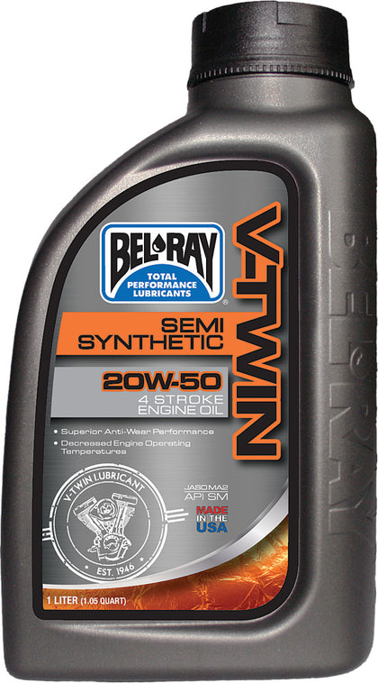 BEL-RAY V-TWIN SEMI-SYNTHETIC ENGINE OIL 20W-50 1L 96910-BT1