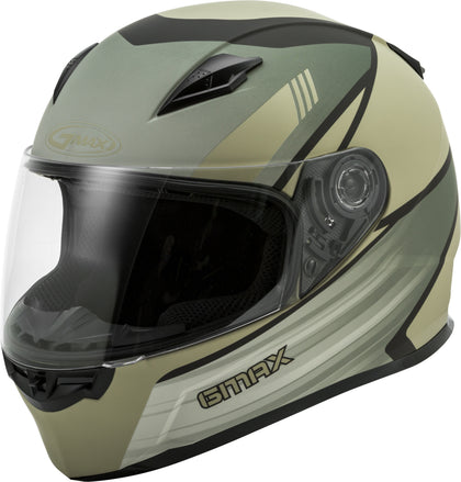 GMAX FF-49 FULL-FACE DEFLECT HELMET SMK SHIELD MATTE TAN/KHAKI XL G1494537