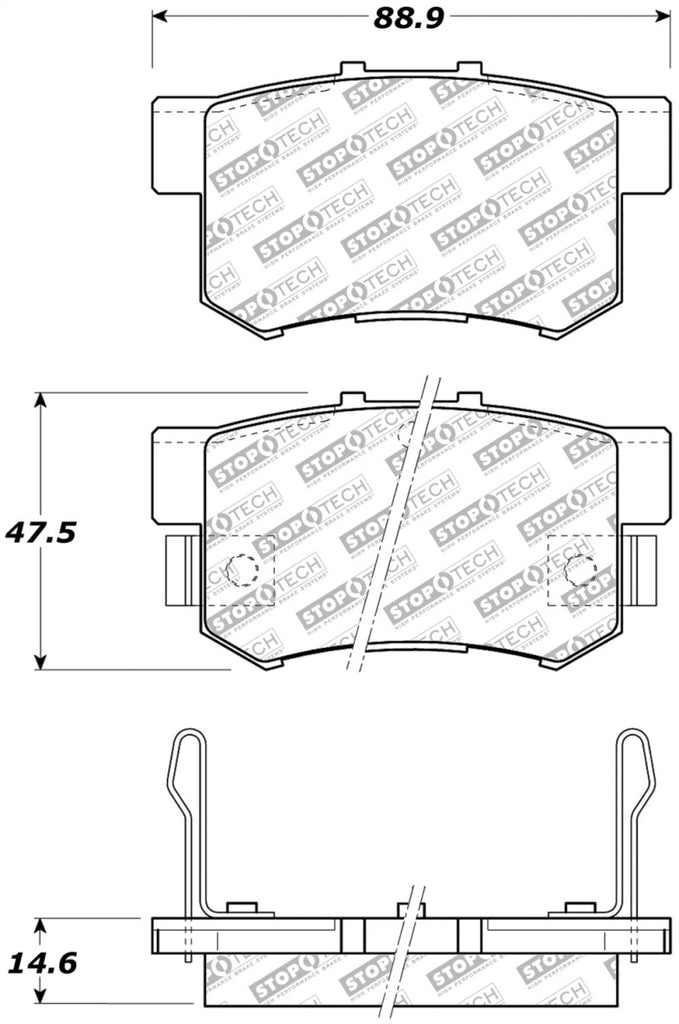 StopTech Street Select Brake Pads - Front/Rear