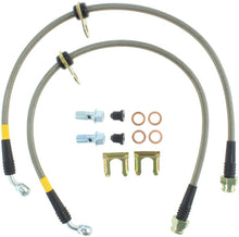 Load image into Gallery viewer, StopTech 08-09 WRX Stainless Steel Rear Brake Lines
