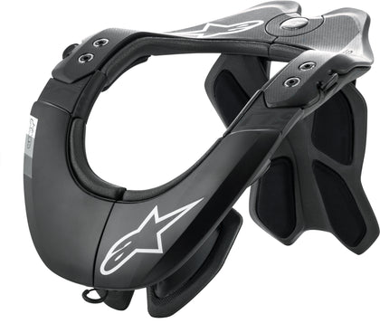 ALPINESTARS BNS TECH-2 NECK SUPPORT BLACK/COOL GREY XS-MD 6500019-XS/MD