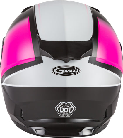 GMAX FF-49S FULL-FACE HAIL SNOW MATTE BLACK/PINK/WHITE SM G2495344
