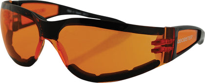 BOBSTER SHIELD II SUNGLASSES BLACK W/AMBER LENS ESH202