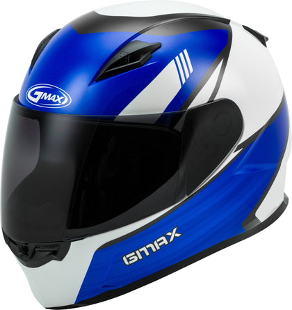 GMAX YOUTH GM-49Y FULL-FACE DEFLECT HELMET WHITE/BLUE YL G1493512