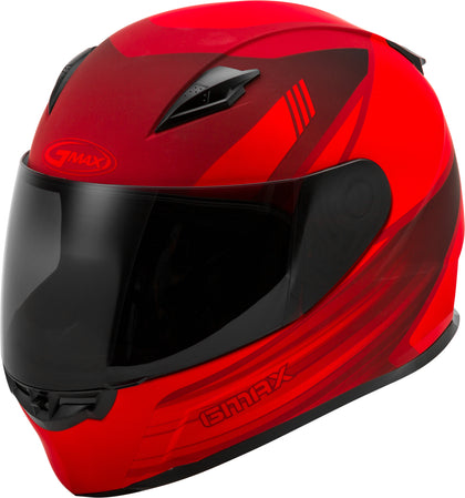 GMAX FF-49 FULL-FACE DEFLECT HELMET MATTE RED/BLACK XS G1494033