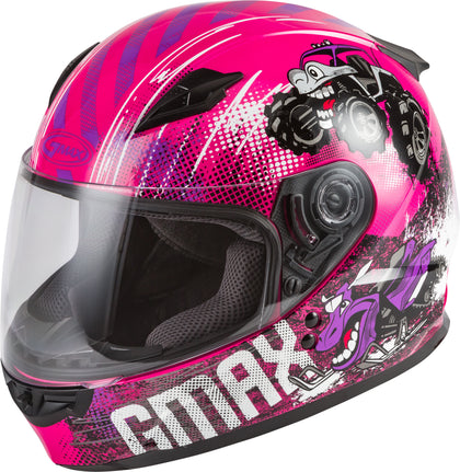 GMAX YOUTH GM-49Y BEASTS FULL-FACE HELMET PINK/PURPLE/GREY YM G1498401