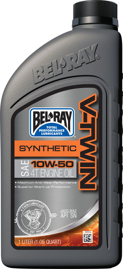 BEL-RAY V-TWIN SYNTHETIC ENGINE OIL 10W-50 1L 96915-BT1