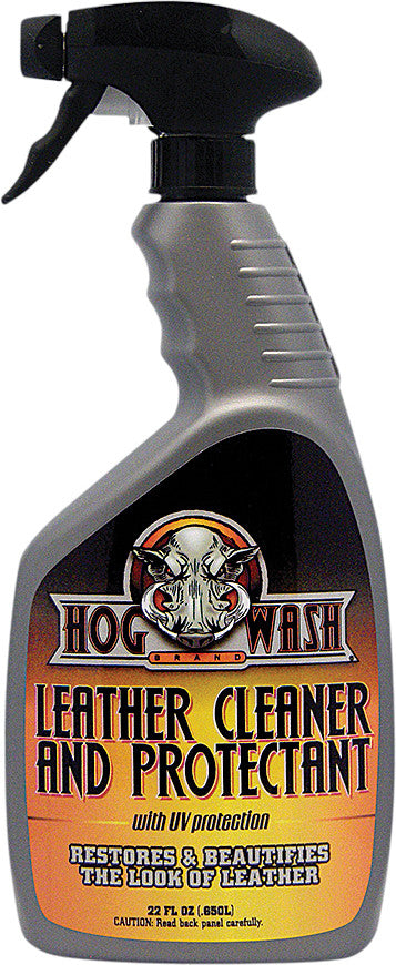 HOG WASH LEATHER CLEANER & PROTECTANT W/UV PROTECTION 22OZ HW0549