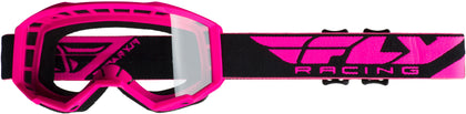 FLY RACING FOCUS GOGGLE PINK W/CLEAR LENS FLA-006