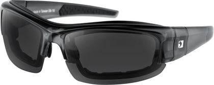 RALLY CONVERTIBLE GLASSES CLR/GRY W/3 REMOVABLE LENSES