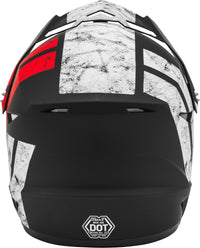 GMAX MX-46 OFF-ROAD DOMINANT HELMET MATTE BLACK/WHITE/RED XL G3464357