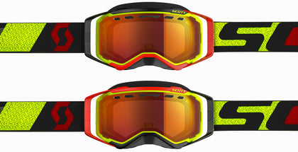 GOGGLE PROSPECT SNOW YLW/RED ENHANCER RED CHROME