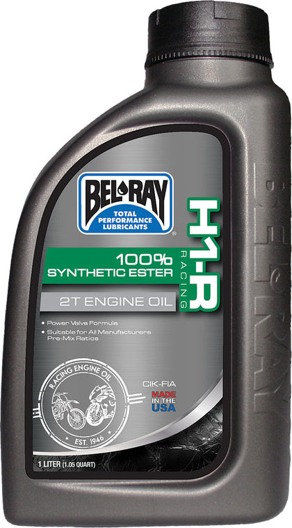 BEL-RAY H1-R 100% SYNTHETIC ESTER 2T ENGINE OIL 1L 99280-B1LW