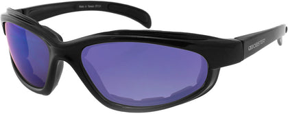 BOBSTER FAT BOY SUNGLASSES BLK FRAME W/SMOKED BLU MIRROR LENS EFB001SB