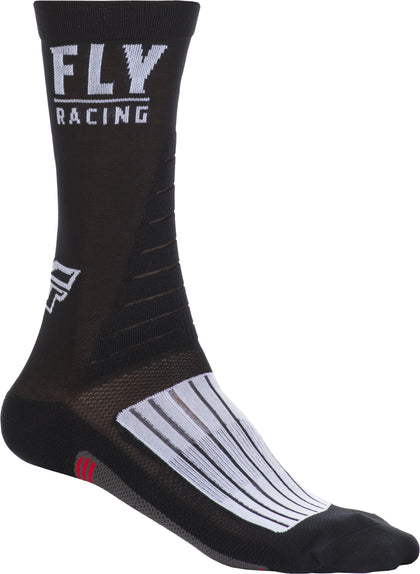 FLY RACING FLY FACTORY RIDER SOCKS BLACK/WHITE/RED SM/MD SPX009600-A1