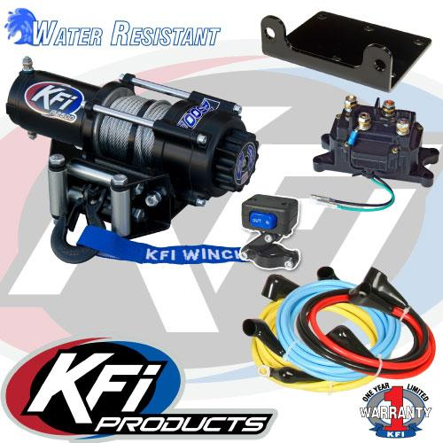 Polaris Sportsman 500 2011-13 Winch and Mount Kit KFI A2500-atv motorcycle utv parts accessories gear helmets jackets gloves pantsAll Terrain Depot