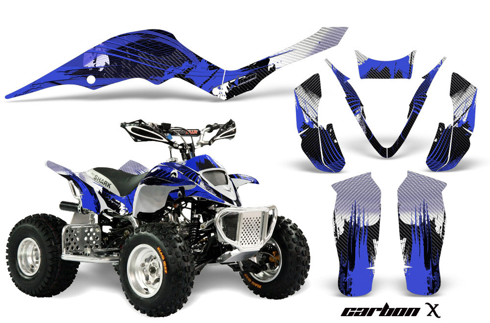 ATV Graphics Kit Decal Sticker Wrap For Apex Pro Shark 70/90 2006-2009 CARBONX BLUE-atv motorcycle utv parts accessories gear helmets jackets gloves pantsAll Terrain Depot
