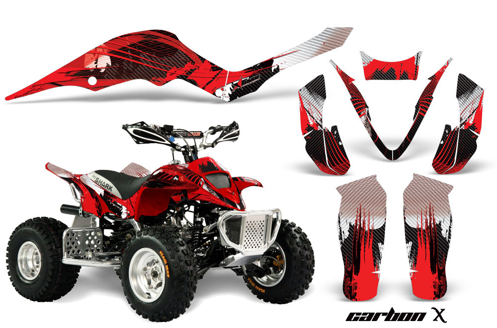 ATV Graphics Kit Decal Sticker Wrap For Apex Pro Shark 70/90 2006-2009 CARBONX RED-atv motorcycle utv parts accessories gear helmets jackets gloves pantsAll Terrain Depot