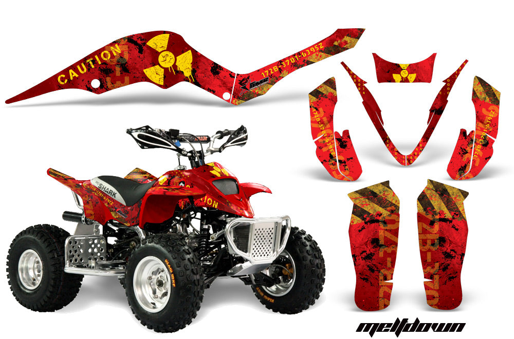 ATV Graphics Kit Decal Sticker Wrap For Apex Pro Shark 70/90 2006-2009 MELTDOWN YELLOW RED-atv motorcycle utv parts accessories gear helmets jackets gloves pantsAll Terrain Depot