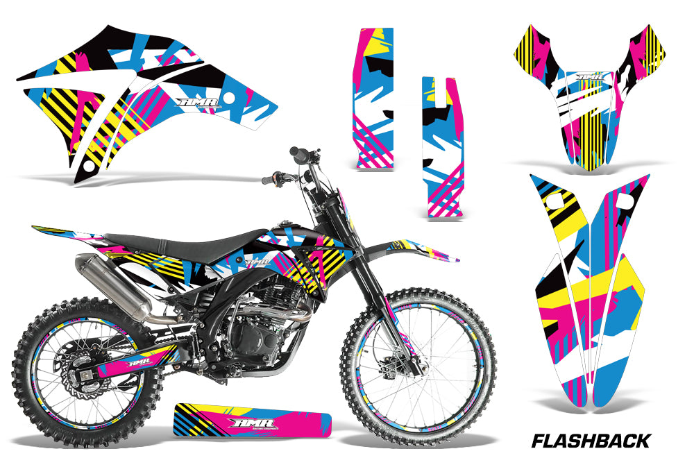 Dirt Bike Graphics Kit Decal Wrap + # Plates For Apollo Orion 250RX FLASHBACK-atv motorcycle utv parts accessories gear helmets jackets gloves pantsAll Terrain Depot