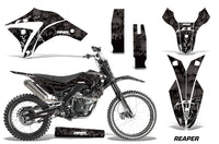 Dirt Bike Graphics Kit Decal Wrap + # Plates For Apollo Orion 250RX REAPER BLACK