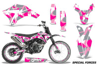 Dirt Bike Graphics Kit Decal Wrap + # Plates For Apollo Orion 250RX SPECIAL FORCES PINK
