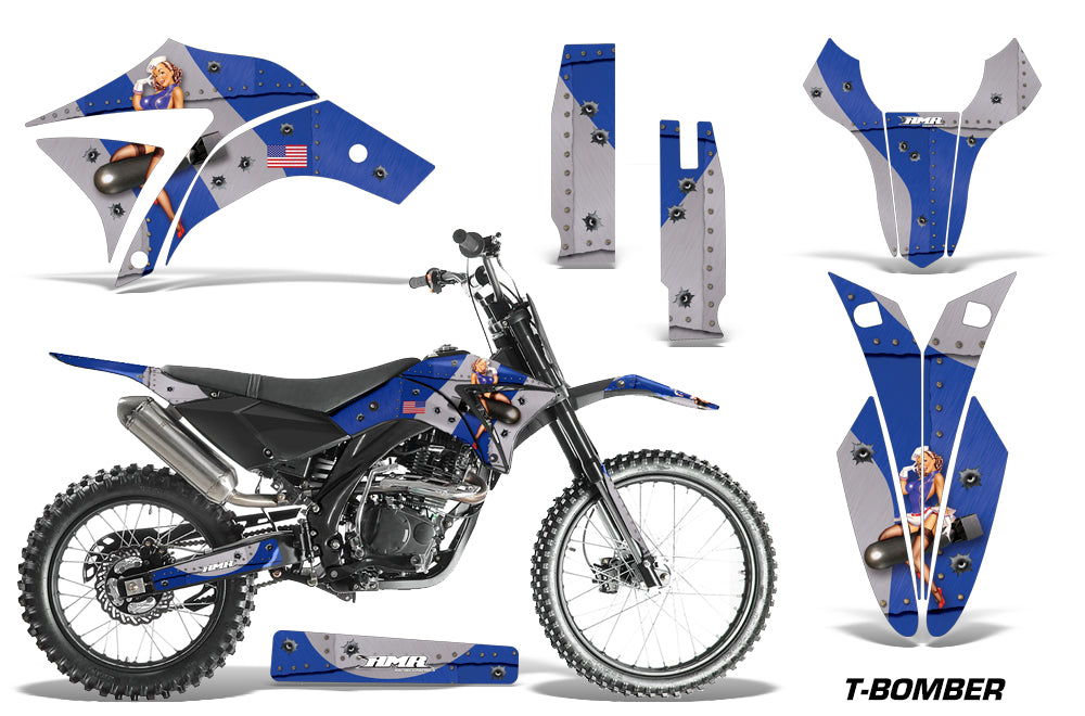 Dirt Bike Graphics Kit Decal Sticker Wrap For Apollo Orion 250RX TBOMBER BLUE
