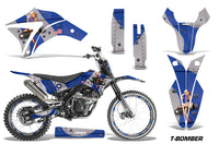 Dirt Bike Graphics Kit Decal Wrap + # Plates For Apollo Orion 250RX TBOMBER BLUE