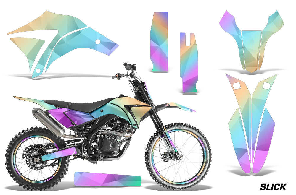 Dirt Bike Graphics Kit Decal Wrap + # Plates For Apollo Orion 250RX SLICK