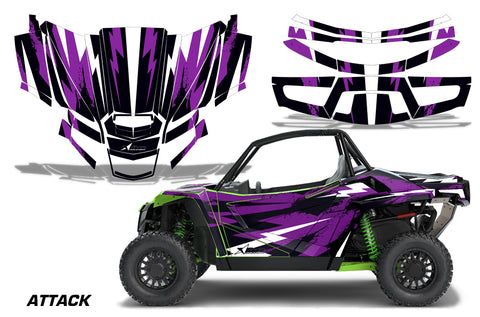 UTV Graphics Kit Decal Sticker Wrap For Textron Wildcat XX 2018+ ATTACK  PURPLE