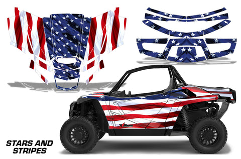 UTV Graphics Kit Decal Sticker Wrap For Textron Wildcat XX 2018+ USA FLAG