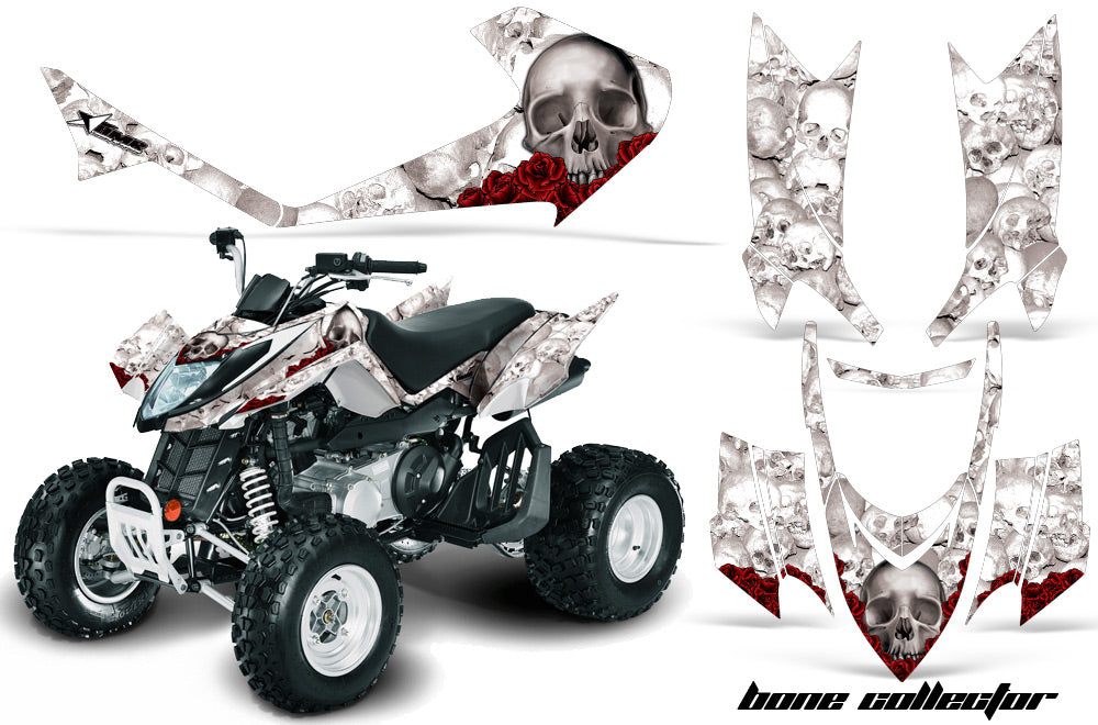 ATV Graphics Kit Quad Decal Sticker Wrap For Arctic Cat DVX400 DVX300 BONES WHITE-atv motorcycle utv parts accessories gear helmets jackets gloves pantsAll Terrain Depot