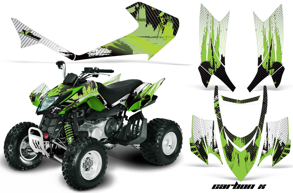 ATV Graphics Kit Quad Decal Sticker Wrap For Arctic Cat DVX400 DVX300 CARBONX GREEN-atv motorcycle utv parts accessories gear helmets jackets gloves pantsAll Terrain Depot